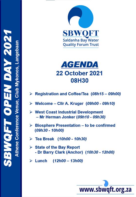 SBWQFT Open Day Agenda 2021